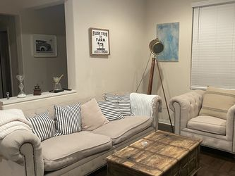 Living Spaces Tufted Sofa Set for Sale in Placentia,  CA