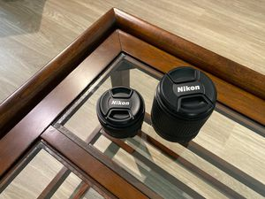 Nikon Profesional 2 lenses + camera Backpack for Sale in Orlando, FL