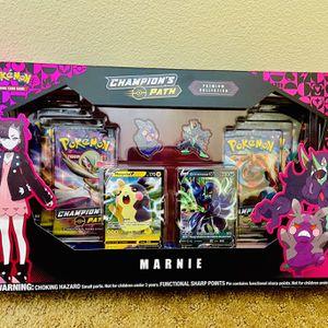 Pokemon Cards: Champion's Path Marnie Premium Collection Box for Sale in Irvine, CA