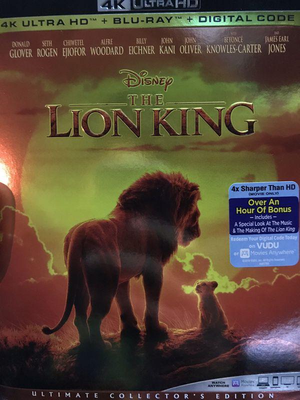 Disney's LION KING 4K ultra HD *NEW*