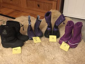 Kids snow boots sz 12 and 13 for Sale in Sharon, MA