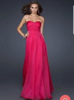 Aqua Dresses Fuchsia Long Strapless Chiffon Size 4 for Sale in Atlanta, GA