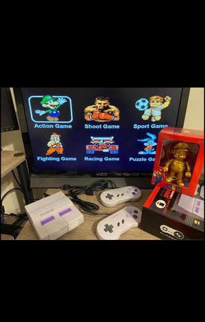 Super mini game console with 821 classic arcade games 👾 with Mario figure for Sale in Hollywood, FL