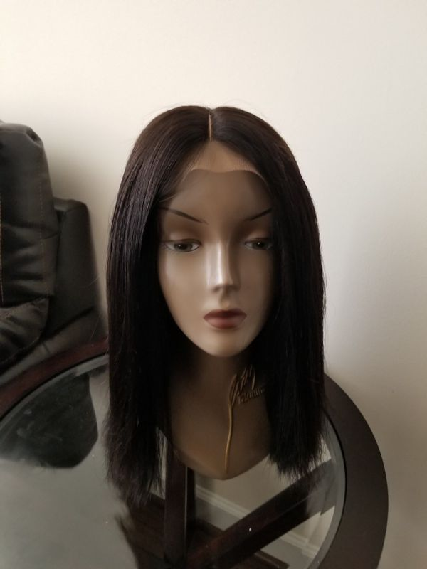 Brazilian human hair blunt cut wig