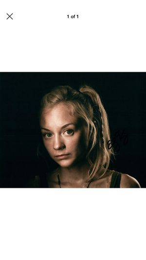 The Walking Dead Emily Kinney Original Autographed Photo for Sale in Farmville, VA
