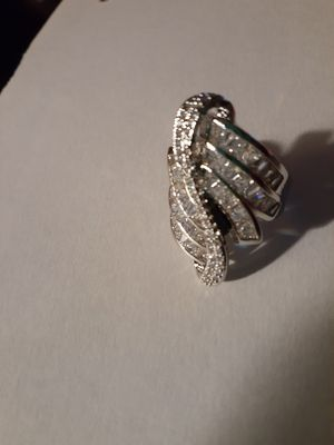 Silver sapphire ring size 8 for Sale in Smyrna, TN