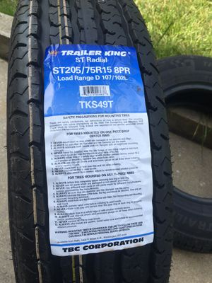 Trailer tires ST205/75R15 8PR load range D for Sale in New Cumberland, PA