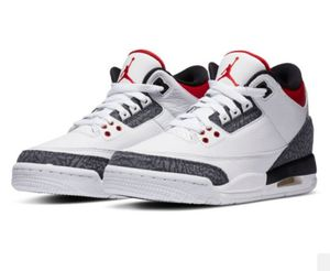 Kids Air Jordan 3 Retro Sizes 3.5, 4 White Black Red for Sale in Livermore, CA