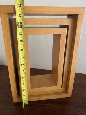 Wall cube Shelves heavy wood for Sale in Fullerton, CA