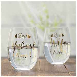 Funny Wine Glass Set for Husband Wife Couple Mom Dad Parents Birthday Wedding Anniversary Valentine's Day 18.5oz for Sale in Fremont, CA