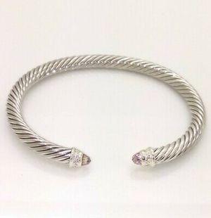 David Yurman 5mm Morganite & Diamonds Bracelet for Sale in Queens, NY