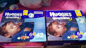 Huggies OverNites $18 ea size 6 for Sale in Austin, TX