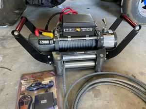 Brand new bandland 12k winch wireless remote hitch mount for Sale in Riverside, CA