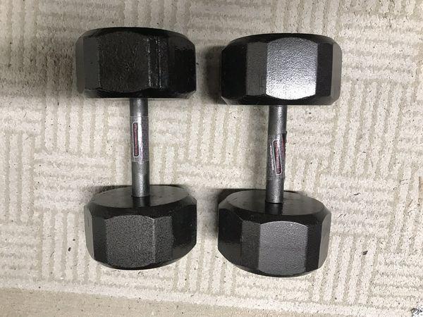 SA() Gear 25lbs dumbbells (pair)
