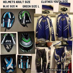 Dirtbike/ motocross clothes and helmets - see description for Sale in Phoenix, AZ