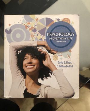 Psychology in everyday life 3rd edition for Sale in La Puente, CA