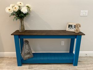 Gorgeous Farmhouse Console Table, Sofa Table, or Entertainment Center for Sale in Lithia, FL