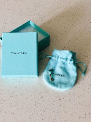 Tiffany & Co. sterling silver and teal heart charm for Sale in Denver, CO