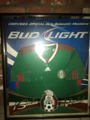 Framed Mexico jersey/ bud light rare for Sale in Encinitas, CA