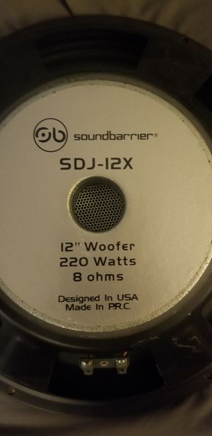 "12"" subwoofer 8 ohm by Soundbarrier for Sale in Chicago Ridge, IL"