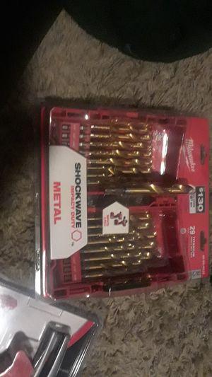 milwaukee 29 pc./p. titanium drill bit set for Sale in Portland, OR