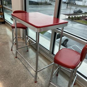 Retro High Dining Table Set for Sale in Portland, OR