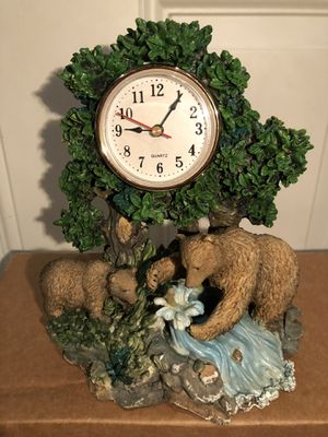 Fishing Bear Clock Home Decor for Sale in Tinicum Township, PA