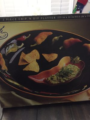 2 piece chip'n dip platter new for Sale in Bakersfield, CA