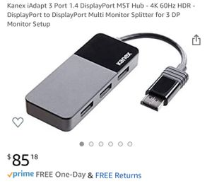 Brand New Triple DisplayPort DP1.4 Adapter for Sale in Chandler, AZ