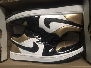 Nike Air Jordan 1 Low Gold Toe Men Size 8 1/2 for Sale in Ontario, CA