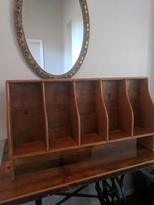 Antique all wood shelf for desk or wall. for Sale in Phoenix, AZ