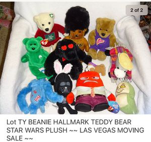Lot CLEANED STAR WARS HALLMARK TEDDY BEAR TY PLUSH TOYS ** See TONS More TOYS here .... for Sale in Las Vegas, NV