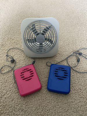 O2COOL Fans (3 total) for Sale in Pembroke Pines, FL