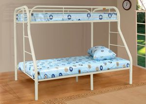 Twin over Full Metal Bunk Bed, White for Sale in Garden Grove, CA