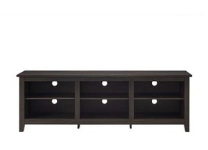 """WE Furniture 70"""" Espresso Wood TV Stand Console for Flat Screen TV's Up to 50"""" Entertainment Center for Sale in Phoenix, AZ"""