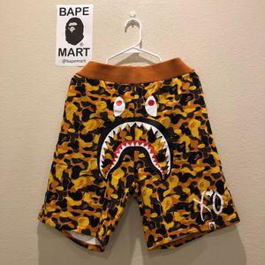 Bape XO shark shorts camo orange (fits like medium/large) for Sale in Los Angeles, CA
