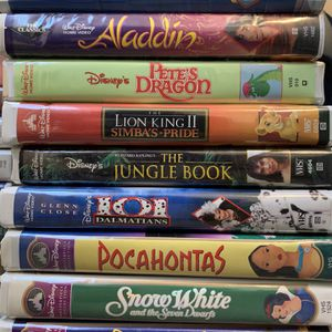Lot Of 20 DISNEY VHS Movies-,Little mermaid, Likn king 1 & 2, Cinderella, Mulan, Mary Poppins, MORE! for Sale in Laguna Niguel, CA