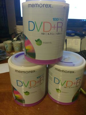DVD +R. 100 pk for Sale in Auburn, WA