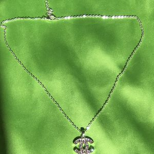 Silver Chanel CC Necklace for Sale in Manchester, CT