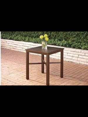 New indoor outdoor patio pub table only in box for Sale in Dallas, TX