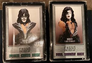 """Kiss Rock Band Paul Stanley and Peter Criss Bust Statues 20"""" for Sale in West Carson, CA"""