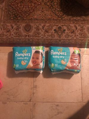 Pampers baby dry size 3 Bundle 64 diapers for Sale in Glendale, AZ
