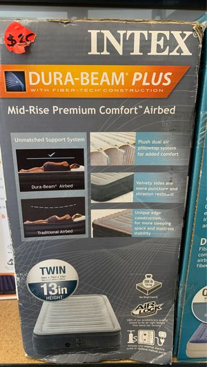 INTEX mid-rise premium comfort airbed for Sale in Norfolk, VA