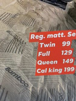 Mattress We Have All Sizes for Sale in Fresno,  CA
