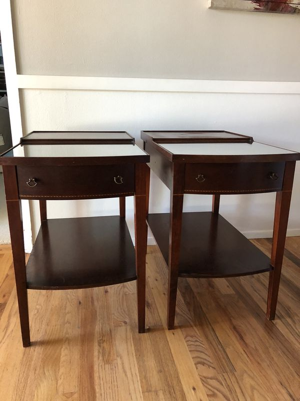 Unique set of vintage Mid-Century end tables side tables