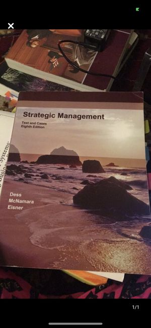 Strategic Management 8th edition by Dess McNamara Eisner for Sale in Queens, NY