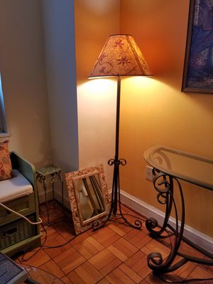 "Floor lamp with pressed leaf shade, 54 "" high. for Sale in Washington, DC"