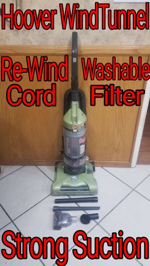 Hoover Bag-Less WindTunnel Vacuum, No Problems, Strong Suction for Sale in Bloomington, CA