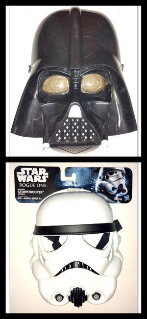 Halloween - STAR WARS Darth Vader or Stormtrooper Mask for Sale in Santa Fe Springs, CA