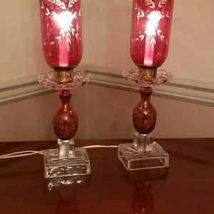 Etched Cranbury Chimney Hurricane Lamps for Sale in Morrisville, PA